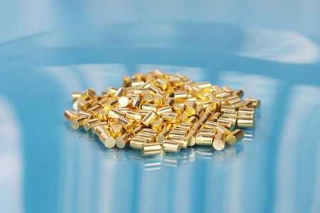 Gold Pellet Evaporation Material Video